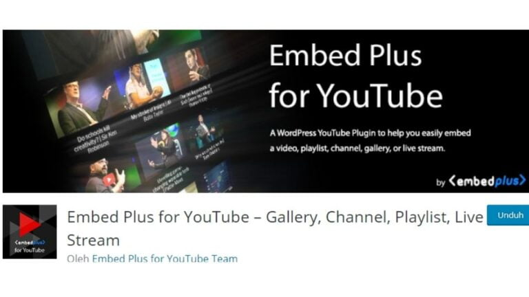 Video Youtube By Embed Plus